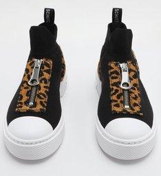 Tênis High Knit Zíper Black
