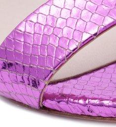 Sandália Minimal Block Heel Snake Rubi