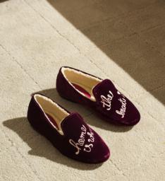 Homewear Loafer Lara Velvet Wine